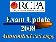 RCPA Examinations in Anatomical pathology - Questions ... - Rcpa.tv