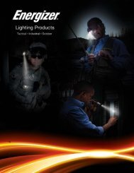 CATALOG - Energizer LED Flashlights, Headlights, Handheld Lights