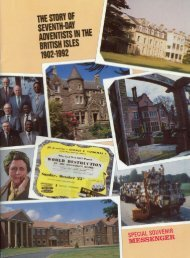 The Story of Seventh-day Adventists in the British Isles 1902-1992