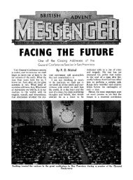 FACING THE FUT - Seventh-day Adventist - BUC Historical Archive