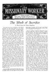 The Week of Sacrifice - Adventisthistory.org.uk