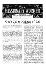 God's Call to Holiness of Life - Adventisthistory.org.uk