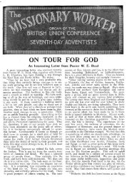 An Interesting Letter from Pastor WE - Seventh-day Adventist - BUC ...