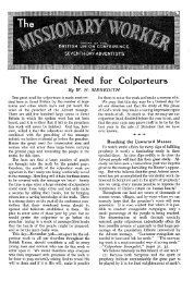 The Great Need for Colporteurs - Adventisthistory.org.uk