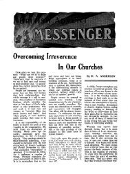 Overcoming Irreverence In Our Churches