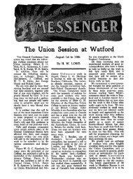 The Union Session Watford - Adventisthistory.org.uk