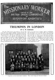 TRIUMPHS IN LONDON - Adventisthistory.org.uk