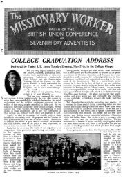 COLLEGE GRADUATION ADDRESS - Adventisthistory.org.uk