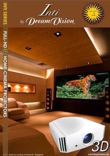 FULL-HD 3D HOME-CINEMA PROJECTORS by - Clarityhifi.net