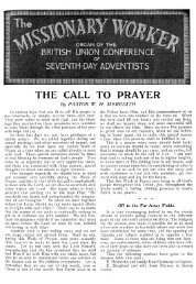 THE CALL TO PRAYER By PASTOR W. - Adventisthistory.org.uk