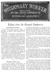 Echoes from the General Conference