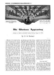 His Glorious Appearing - Adventisthistory.org.uk