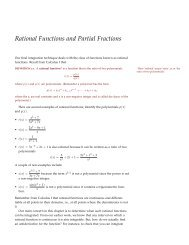 Class Notes Day 26 on Partial Fractions