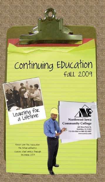 to see Continuing Education Fall 2009 Offerings - Northwest Iowa ...