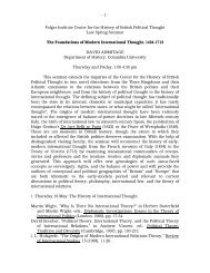 The Foundations of Modern International Thought, 1494–1713