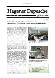 Hagener Depesche Nr. 9 - FernUniversität in Hagen