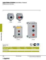 Control Stations & Switches: Control Stations – Flameproof