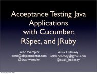 Acceptance Testing Java Applications with Cucumber, RSpec, and ...
