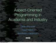 AOP in Academia and Industry - Polyglot Programming