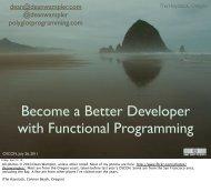 Better Programming through Functional Programming - Polyglot ...