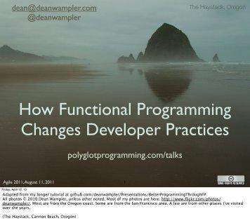 How Functional Programming Changes Developer Practices