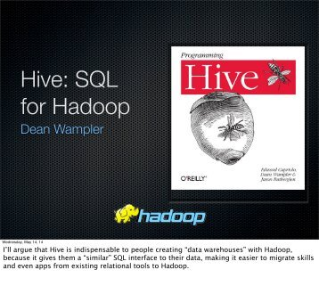 Hive - SQL for Hadoop - Polyglot Programming