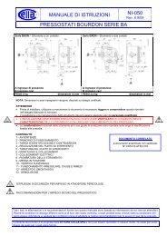 manuale di istruzioni ni-050 pressostati bourdon ... - Ettore Cella SPA