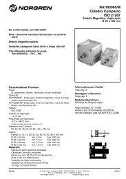 Cilindro compacto magnéticos (dupla ação, RA 19200M ... - Coppi