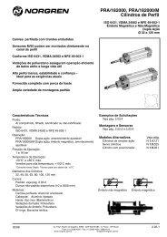 Cilindro Perfil para 182000M, ISO 6431 e VDMA 24562 - Coppi