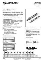 Cilindro mini-ISO, dupla ação RM 8000M - Coppi