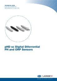 pHD sc Digital Diferrential PH and ORP Sensors - Hyxo
