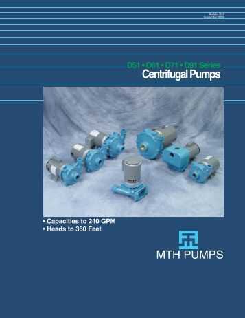 D Series Product Bulletin - MTH Pumps