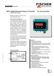 DE39 Digital Differential Pressure Transmitter - GL ... - FISCHER Mess
