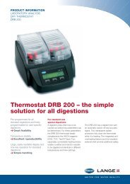 Thermostat DRB 200 – the simple solution for all digestions - Hyxo