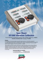 Spec Sheet IST-300 Vibration Calibrator - Istec International