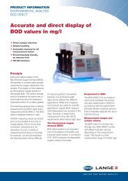 Accurate and direct display of BOD values in mg/l - Hyxo