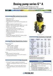 Dosing pump series G™A - Hyxo