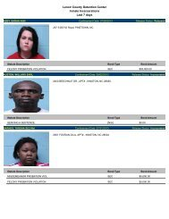 Lenoir County Detention Center Inmate Incarcerations Last 7 days