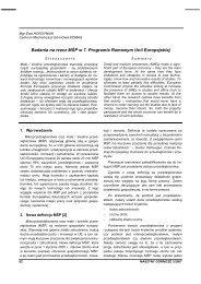 maszyny górnicze 3/2007 - Instytut Techniki Górniczej KOMAG