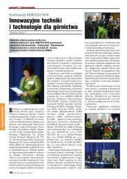 Cały artykuł - Instytut Techniki Górniczej KOMAG