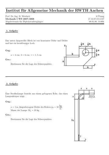 6.¨Ubung - Institut für Allgemeine Mechanik