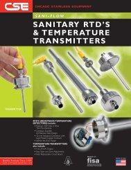 sani-flow sanitary rtd's & temperature transmitters