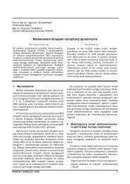 maszyny górnicze 1/2006 - Instytut Techniki Górniczej KOMAG