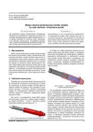 maszyny górnicze 2/2011 - Instytut Techniki Górniczej KOMAG