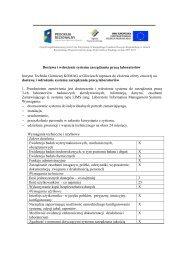 Dostawa i wdrożenie systemu zarządzania pracą laboratoriów