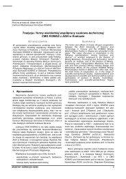 maszyny górnicze 4/2005 - Instytut Techniki Górniczej KOMAG