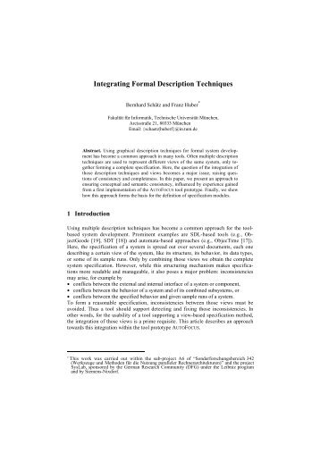 Integrating Formal Description Techniques - Software and Systems ...