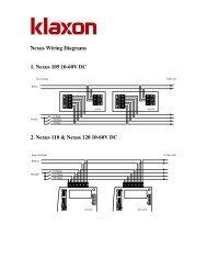 Nexus Wiring Diagrams - Klaxon Signals Ltd.