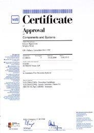 Nexus 120 Sounder VdS Certficate - Klaxon Signals Ltd.