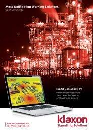 Mass Notification Warning Solutions - Klaxon Signals Ltd.